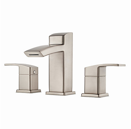 Brushed Nickel Kenzo Widespread Bath Faucet - LG49-DF2K - 1