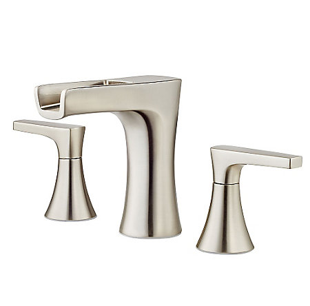 Brushed Nickel Kelen Widespread Trough Bath Faucet - LG49-MF1K - 1