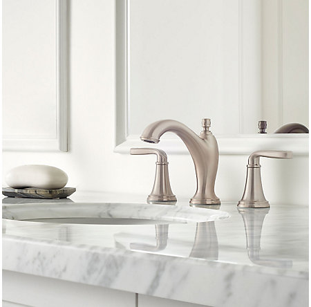 Brushed Nickel Northcott Widespread Bath Faucet - LG49-MG0K - 2