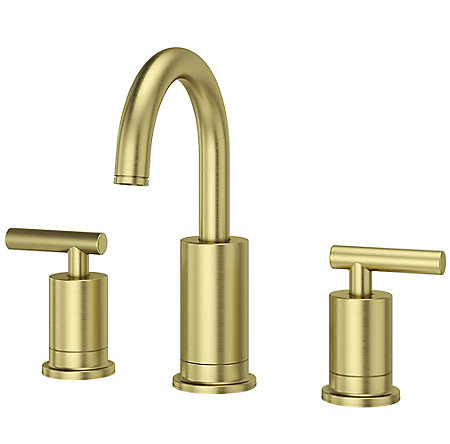 Brushed Gold Contempra Widespread Bath Faucet - LG49-NC1BG | Pfister ...