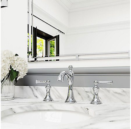 Polished Chrome Tisbury Widespread Bath Faucet - LG49-TB0C - 2