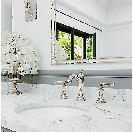 Polished Nickel Tisbury Widespread Bath Faucet - LG49-TB0D | Pfister ...