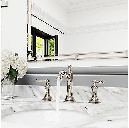 Polished Nickel Tisbury Widespread Bath Faucet - LG49-TB0D   Pfister ...