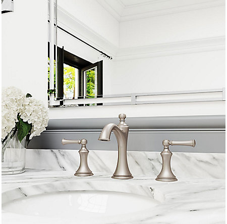 Brushed Nickel Tisbury Widespread Bath Faucet - LG49-TB0K - 2