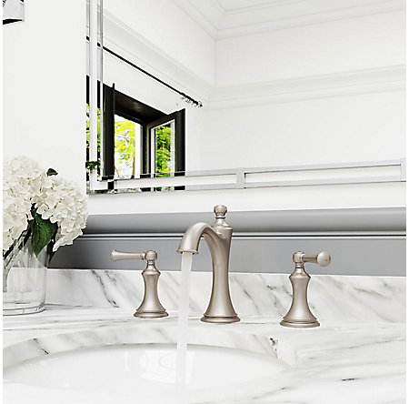Brushed Nickel Tisbury Widespread Bath Faucet - LG49-TB0K - 3