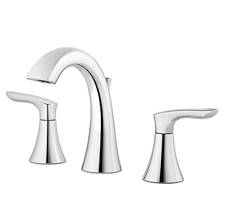 Polished Chrome Weller Widespread Bath Faucet - LG49-WR0C - 1
