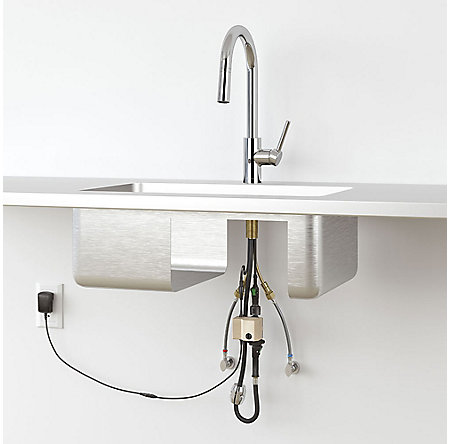 Stainless Steel Stellen Pull-Down Kitchen Faucet with React Touch-free Technology - LG529-ESAS - 4