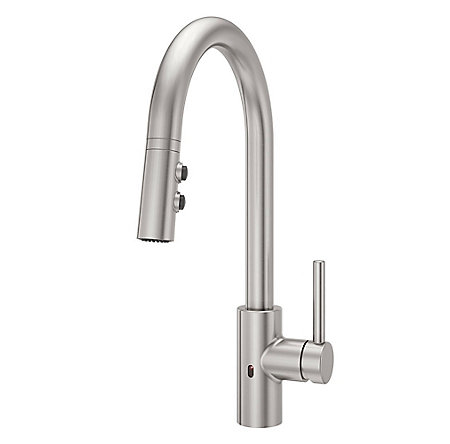 Stainless Steel Stellen Pull-Down Kitchen Faucet with React Touch-free Technology - LG529-ESAS - 1