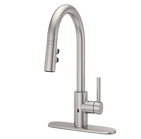 Stainless Steel Stellen Pull-Down Kitchen Faucet with React Touch-free Technology - LG529-ESAS - 2
