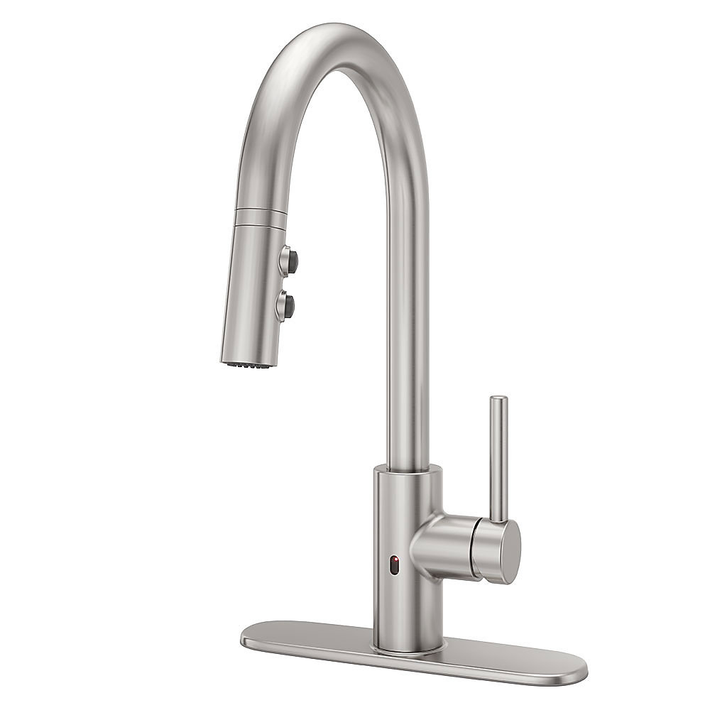 Stainless Steel Stellen Pull-Down Kitchen Faucet With React Touch ...