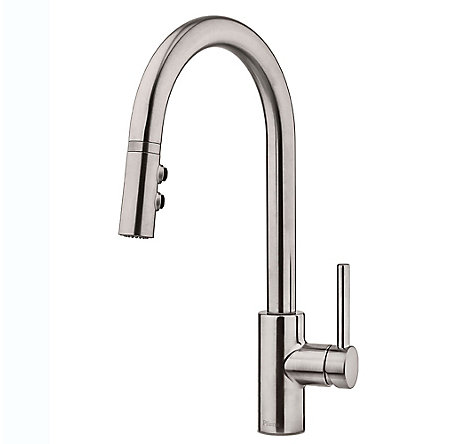 Stainless Steel Stellen 1-Handle Pull Down Kitchen Faucet - LG529-SAS - 1