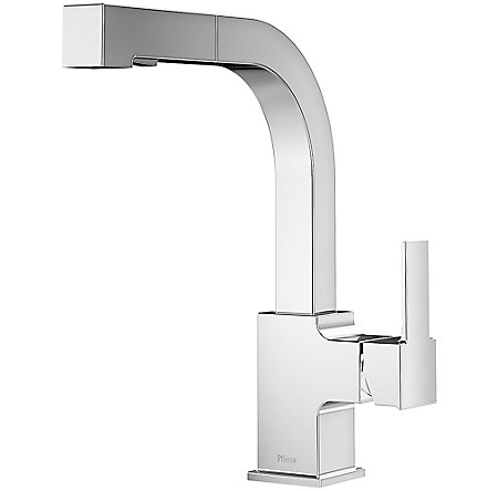 Polished Chrome Arkitek 1-Handle, Pull-Out Kitchen Faucet - LG534-LPMC - 1