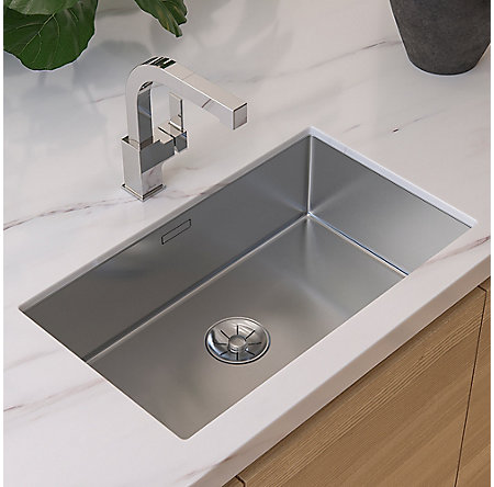 Polished Chrome Arkitek 1-Handle, Pull-Out Kitchen Faucet - LG534-LPMC - 3
