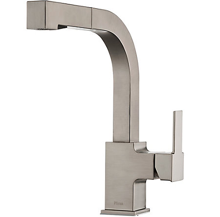 Stainless Steel Arkitek 1 Handle, Pull Out Kitchen Faucet   LG534 LPMS