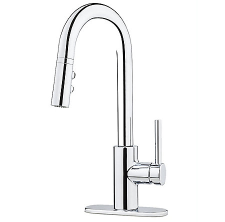 Polished Chrome Stellen 1-Handle Pull Down Bar And Prep Faucet - LG572-SAC - 2