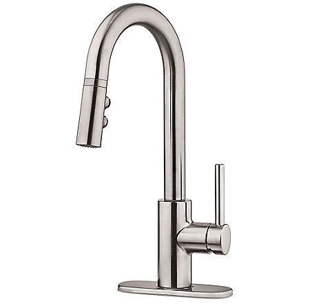 Stainless Steel Stellen 1-Handle Pull Down Bar And Prep Faucet - LG572-SAS - 2