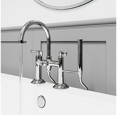 Polished Chrome Tisbury Deck Mounted Tub Filler - LG6-2TBC - 3