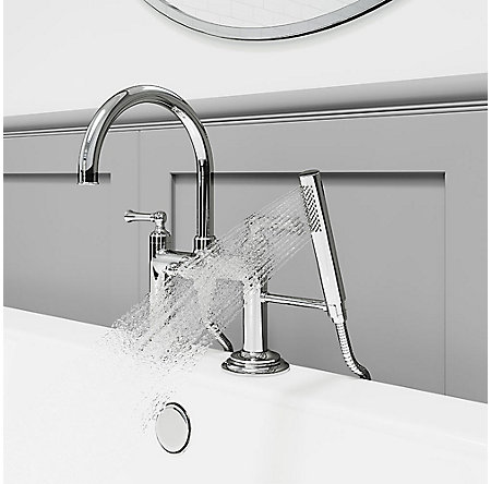 Polished Chrome Tisbury Deck Mounted Tub Filler - LG6-2TBC - 4