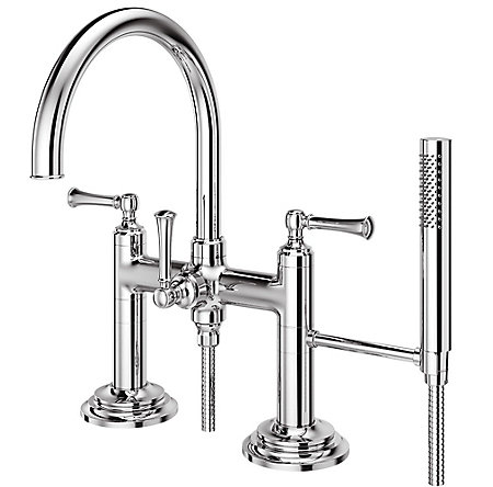 Polished Chrome Tisbury Deck Mounted Tub Filler - LG6-2TBC - 1