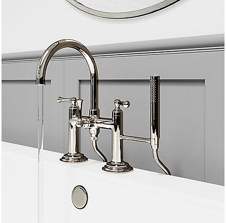Polished Nickel Tisbury Deck Mounted Tub Filler - LG6-2TBD - 3