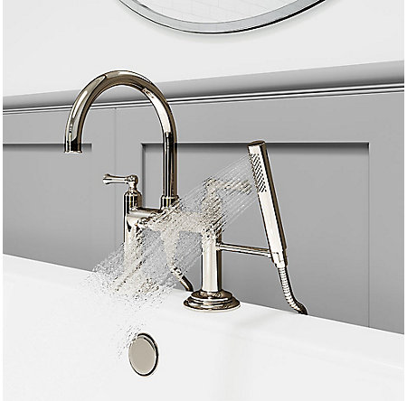 Polished Nickel Tisbury Deck Mounted Tub Filler - LG6-2TBD - 4