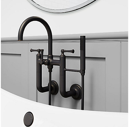 Tuscan Bronze Tisbury Wall Mounted Tub Filler - LG6-3TBY - 2