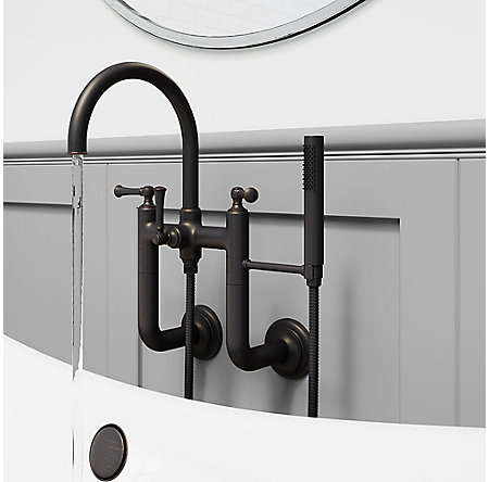 Tuscan Bronze Tisbury Wall Mounted Tub Filler - LG6-3TBY - 3