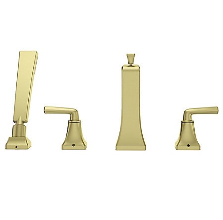 Brushed Gold Park Avenue 4-Hole Roman Tub with Handshower, Trim Only - LG6-4FEBG - 4