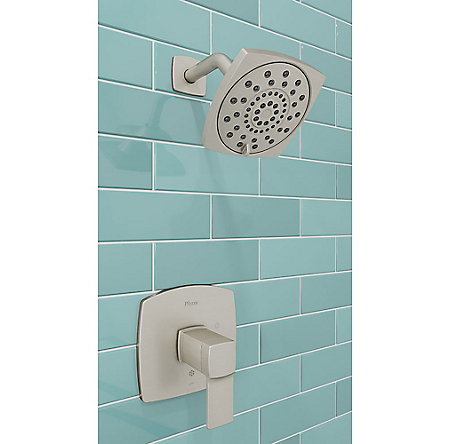 Brushed Nickel Deckard 1-Handle Shower, Trim Only - LG89-7DAK - 2