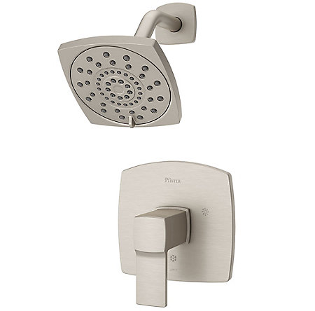 Brushed Nickel Deckard 1-Handle Shower, Trim Only - LG89-7DAK - 1