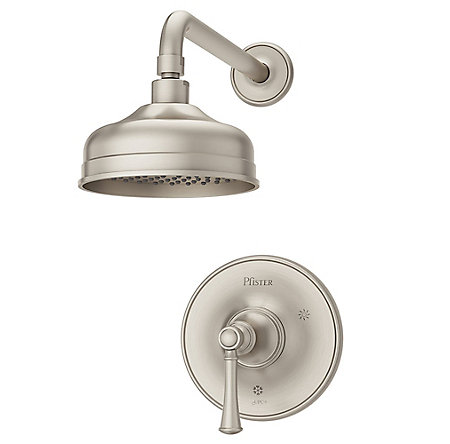 Brushed Nickel Tisbury 1-Handle Shower, Trim Only - LG89-7TBK - 1
