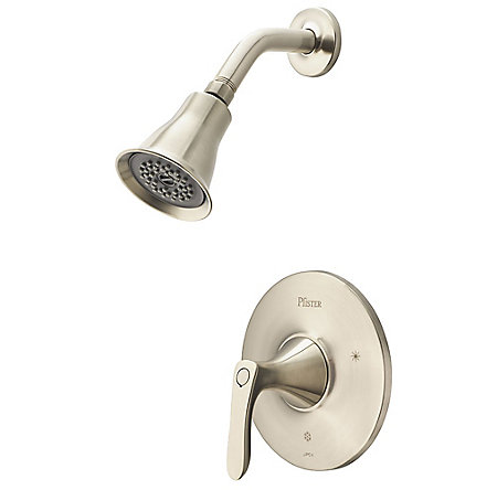 Brushed Nickel Weller 1-Handle Shower, Trim Only - LG89-7WRK - 1
