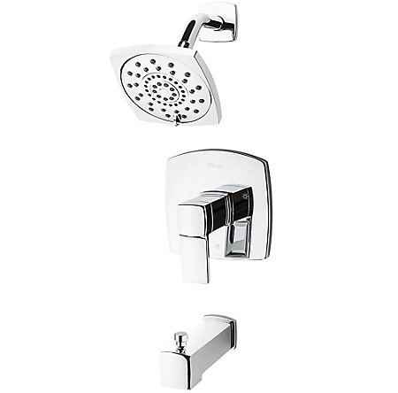 Polished Chrome Deckard 1-Handle Tub & Shower, Trim Only - LG89-8DAC - 1