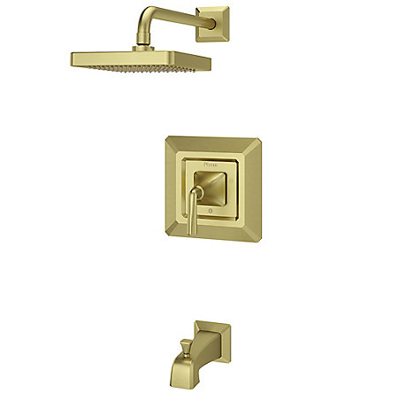 Brushed Gold Park Avenue 1-Handle Tub & Shower, Trim Only - LG89-8FEBG - 1