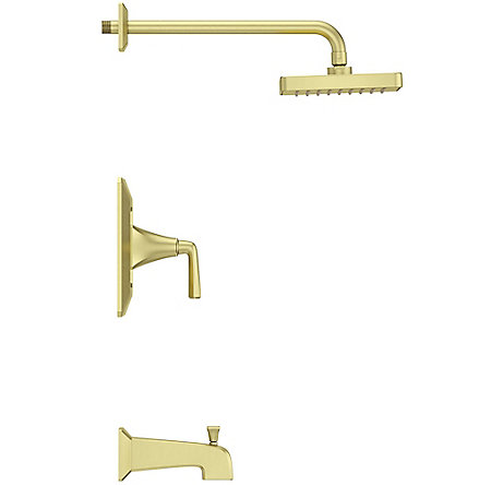Brushed Gold Park Avenue 1-Handle Tub & Shower, Trim Only - LG89-8FEBG - 3