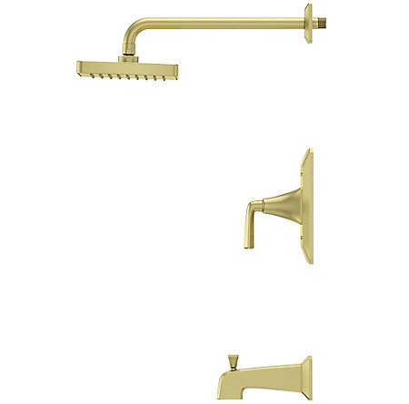 Brushed Gold Park Avenue 1-Handle Tub & Shower, Trim Only - LG89-8FEBG - 4
