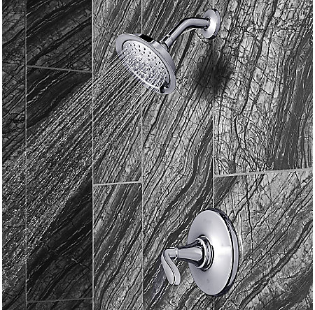 Polished Chrome Northcott 1-Handle Shower, Trim Only - LG89-7MGC - 3