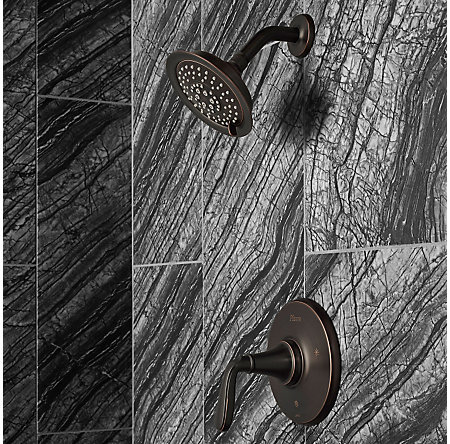 Tuscan Bronze Northcott 1-Handle Shower, Trim Only - LG89-7MGY - 2