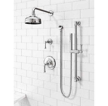 Polished Chrome Tisbury Slide Bar Kit with Hand Shower - LG16-3TBC - 2