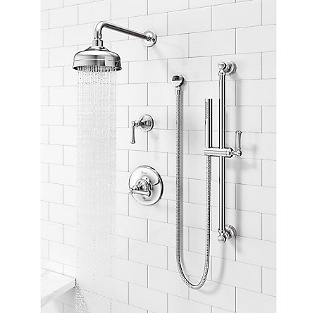 Polished Chrome Tisbury Slide Bar Kit with Hand Shower - LG16-3TBC - 3