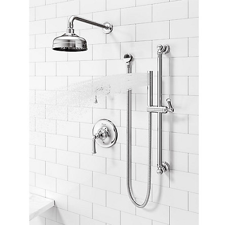 Polished Chrome Tisbury Slide Bar Kit with Hand Shower - LG16-3TBC - 4