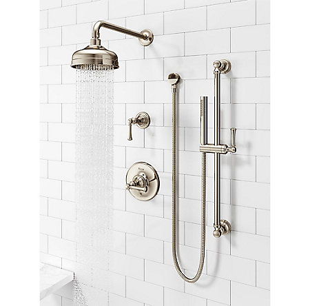 Polished Nickel Tisbury Slide Bar Kit with Hand Shower - LG16-3TBD - 3