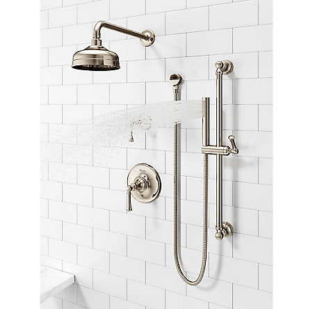 Polished Nickel Tisbury Slide Bar Kit with Hand Shower - LG16-3TBD - 4
