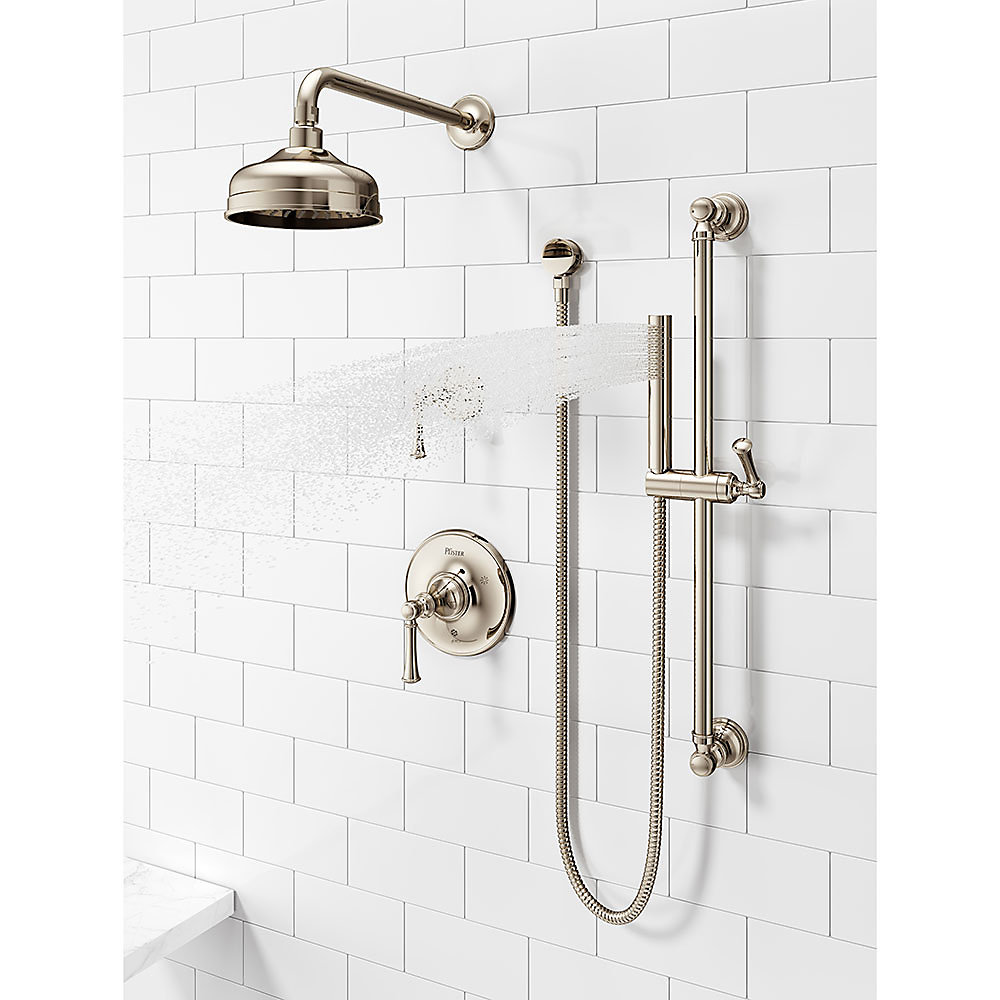 Nice Polished Nickel Tisbury Raincan Shower Head   LG15 TB0D   4