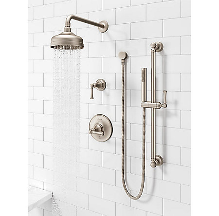 Brushed Nickel Tisbury Slide Bar Kit with Hand Shower - LG16-3TBK - 3