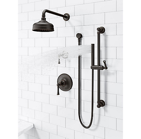 Tuscan Bronze Tisbury Slide Bar Kit with Hand Shower - LG16-3TBY - 4