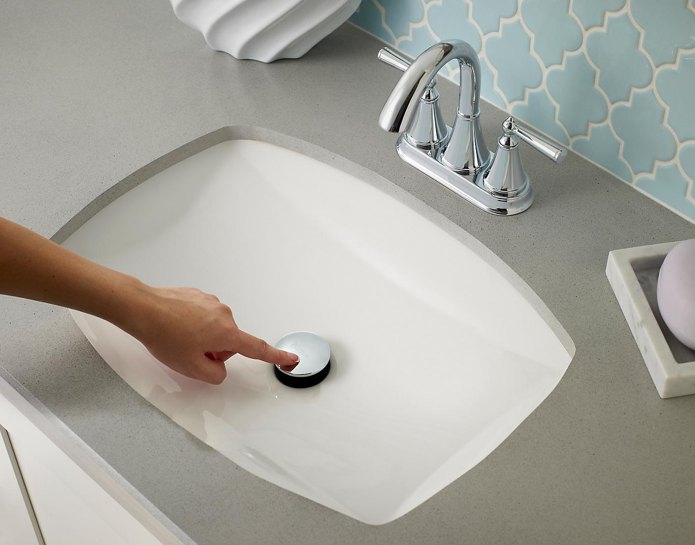Push and Seal, Tool-Less Drain Assembly | Pfister Faucets