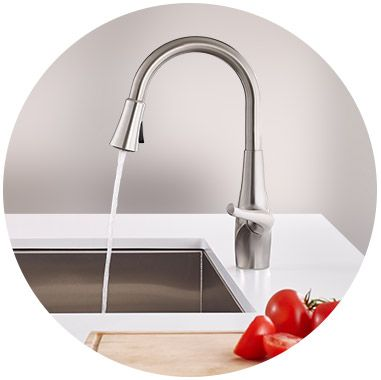 Xtract faucet in kitchen (profile view)