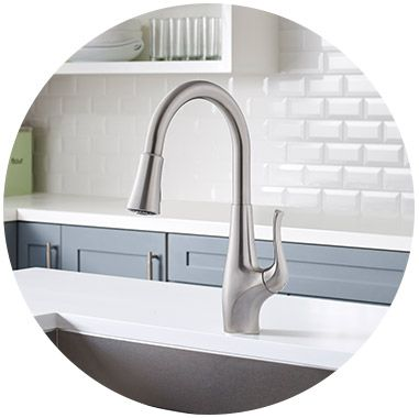 Xtract faucet in kitchen