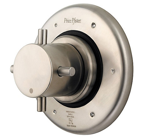 "Brushed Nickel 3/4"" Thermostatic Trim - R79-600K - 1"